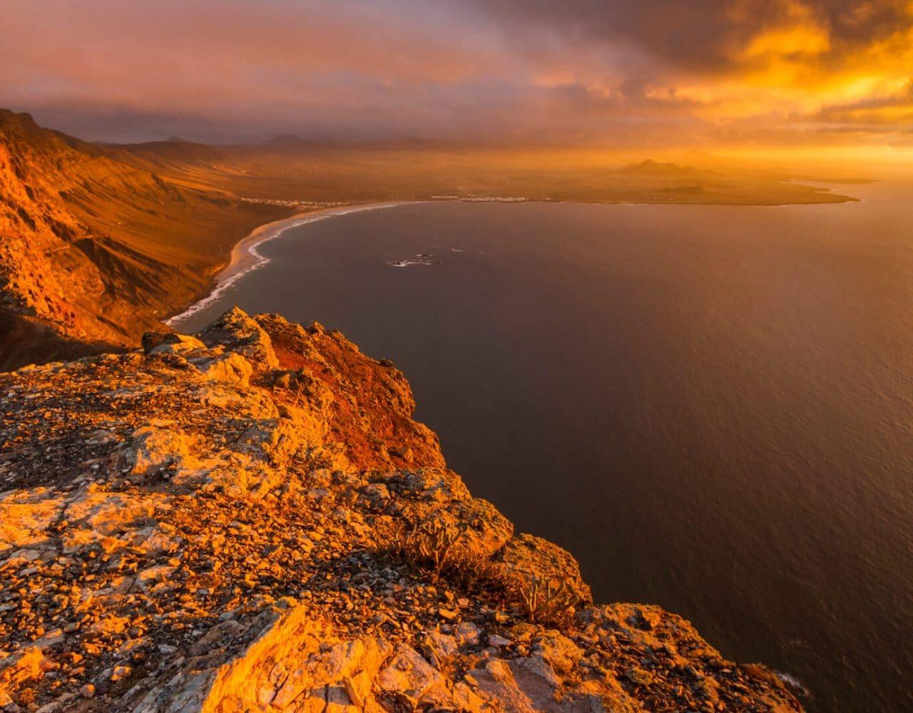 Canary Islands Lanzarote Famara Cliff